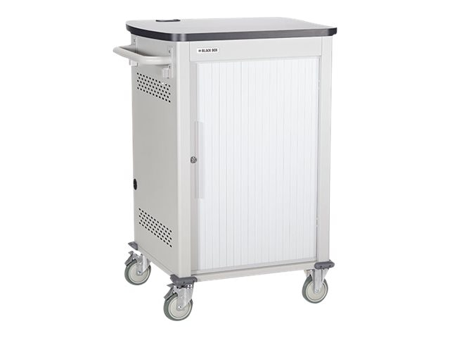 Black Box 30-Unit Tablet iPad Charging Cart with Tambour Door, UCCSS30T