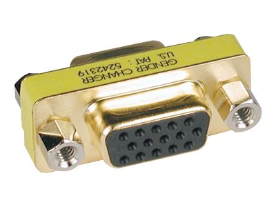 Tripp Lite Compact VGA Gender Changer - HDDB15F to HDDB15F - Gold Connectors