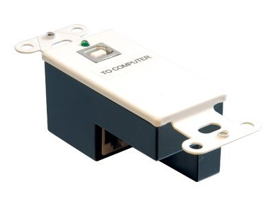 C2G USB Superbooster Wallplate Transmitter, White, 29344