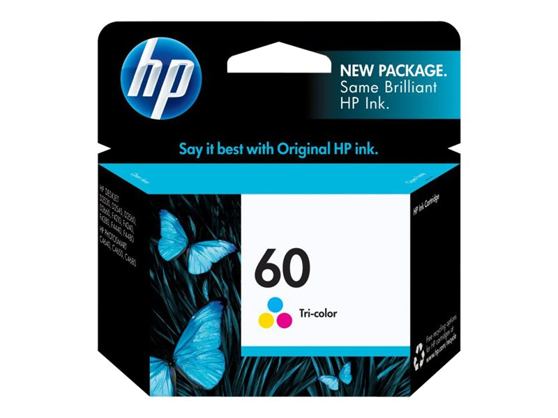 HP 60 (CC643WN) Tri-color Original Ink Cartridge