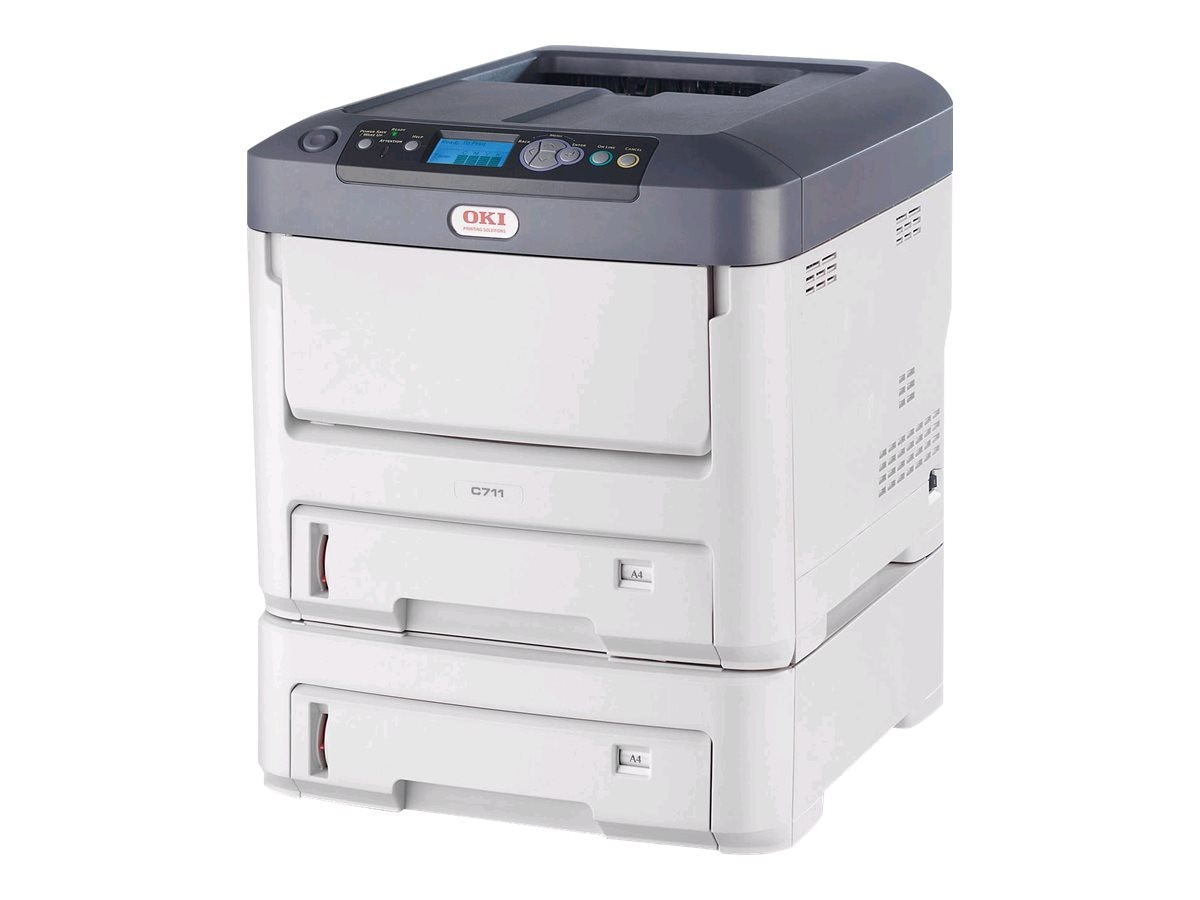 Oki C711dtn Digital Color Printer (Multilingual)