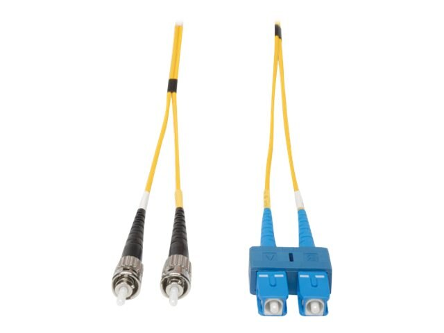 Tripp Lite Fiber Optic Patch Cable, SC-ST, 8.3 125, Duplex Singlemode, 3m, N354-03M, 6013494, Cables
