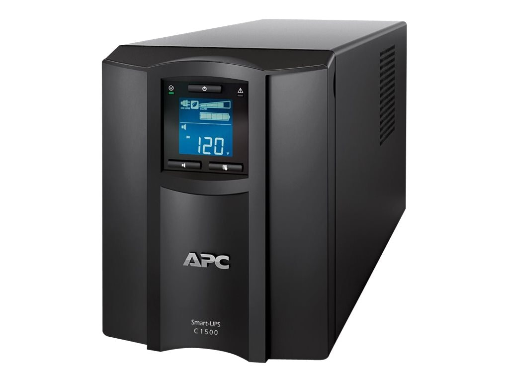 APC Smart-UPS C 1500VA 900W 120V LCD Tower USB UPS, SMC1500