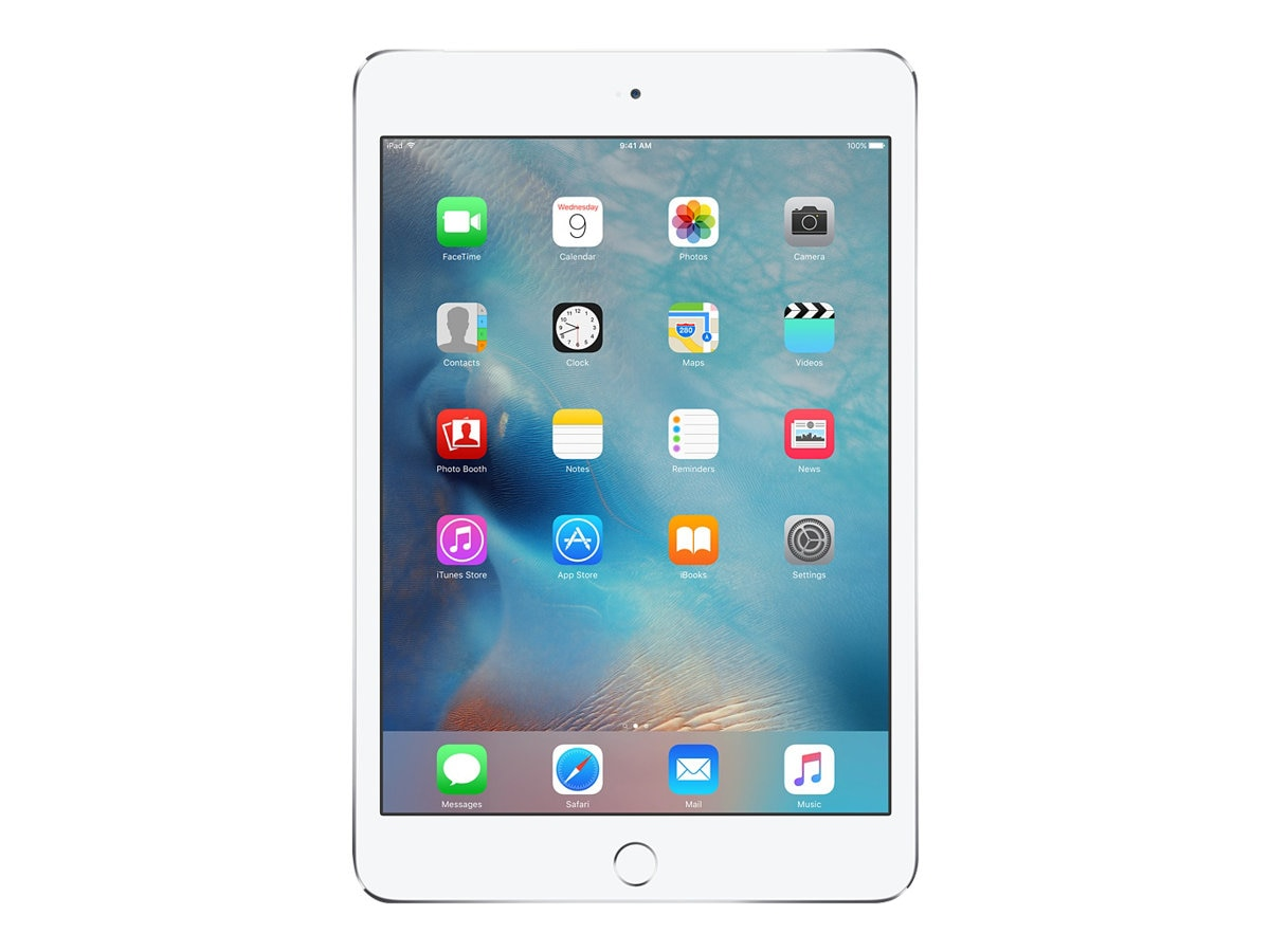 Apple iPad Mini 4 16GB, WiFi+Cellular, Silver, MK872LL/A, 30617132, Tablets - iPad mini