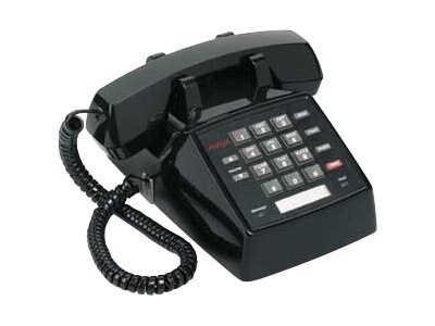 Avaya 2500 Analog Telephone, Single-Line, Black, 108209057