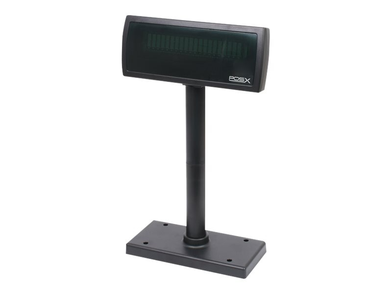 Pos-X XP8200 Pole Display, RS-232 Cable, Black, Universal+OPOS USB Powered