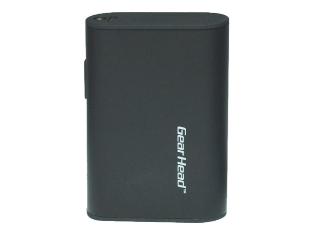 Gear Head 4000mAh Power Bank, Black, PB4000BLK