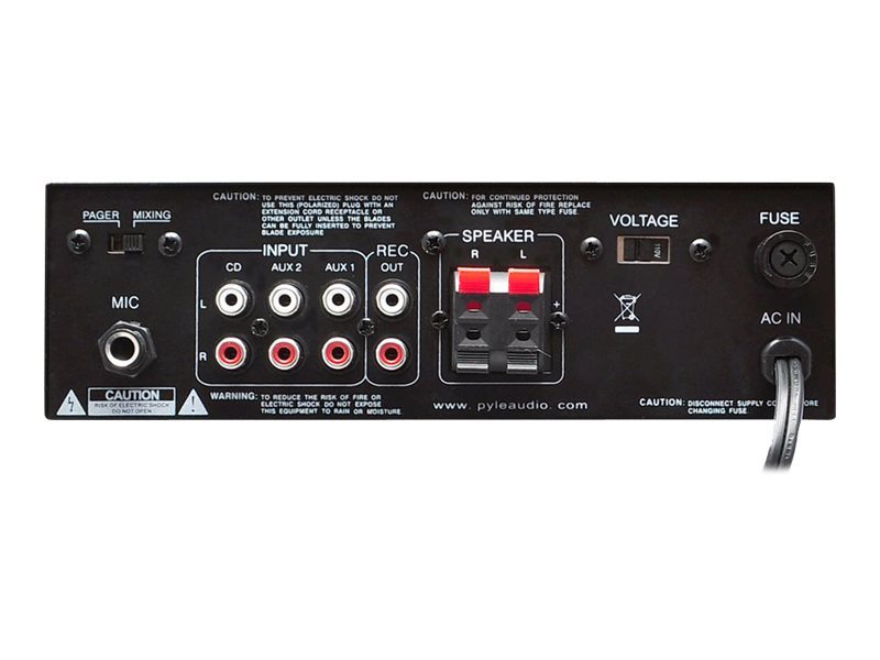 Pyle Stereo Power Amplifier 2x120 Watt with Blue LED Display, USB SD MMC Card, Aux, CD & Mic Inputs, PTAU55