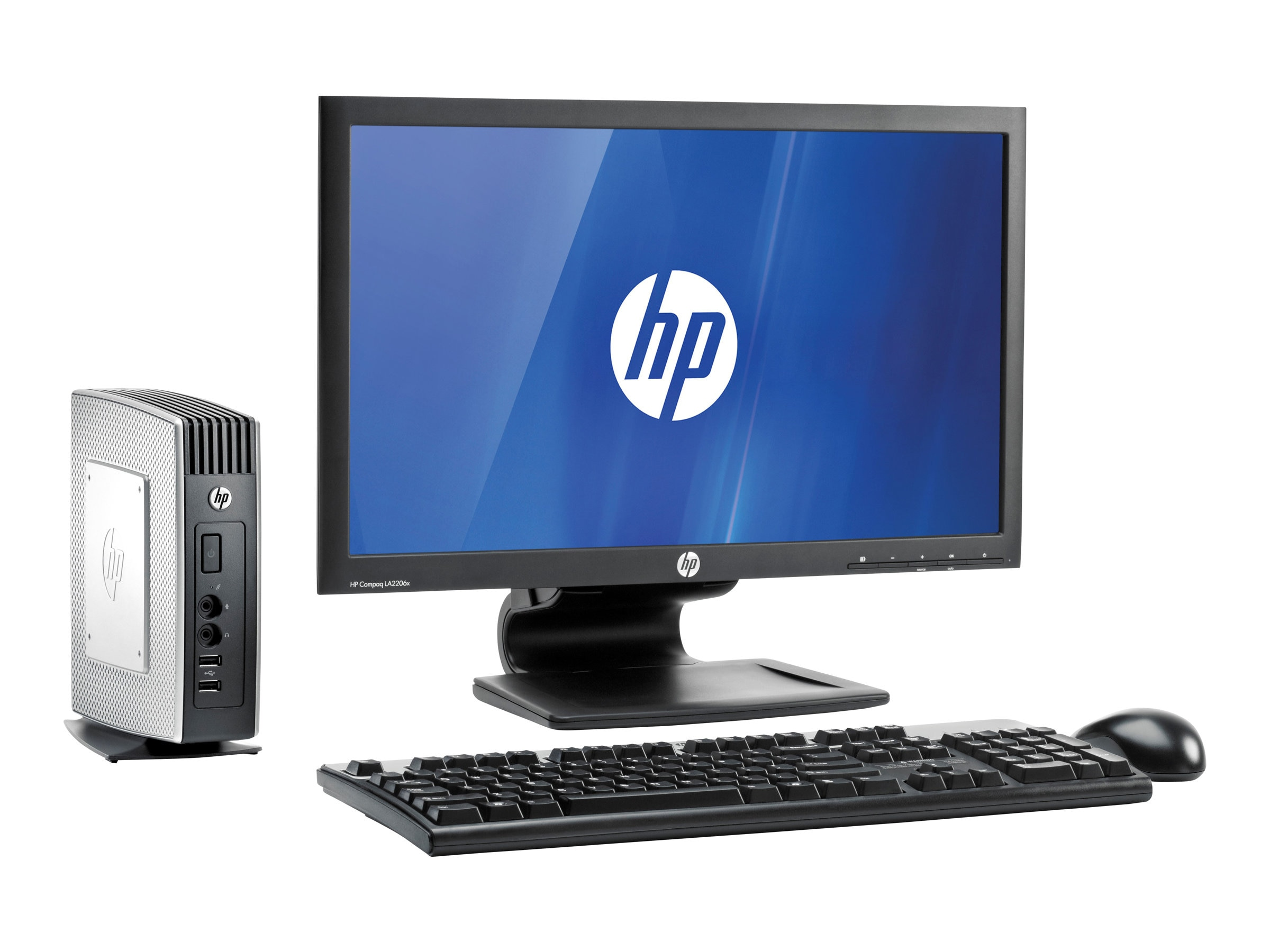 HP t510 Flexible Thin Client VIA Eden X2 U4200 DC 1.0GHz 4GB RAM 8GB Flash GbE WES7E, F3V02AA, 16474104, Thin Client Hardware