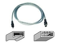 Belkin IEEE 1394 FireWire Cable, Ice (4pin 6pin), 6ft, Clamshell Packaging, F3N401v06-ICE, 6997147, Cables