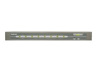 IOGEAR 8-Port KVM Switch PS 2 1U Auto Scan
