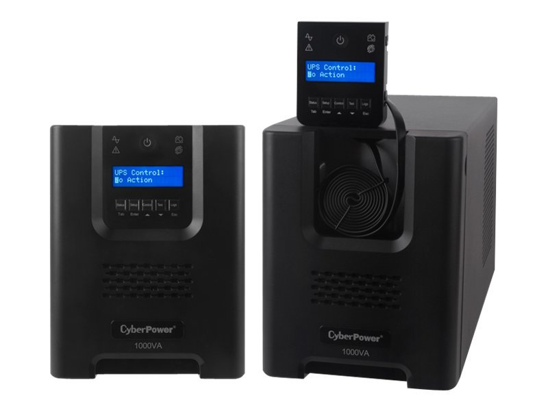 CyberPower Smart App Sinewave 1000VA 700W UPS, LCD Control Panel, Line-interactive, PR1000LCD, 14249608, Battery Backup/UPS