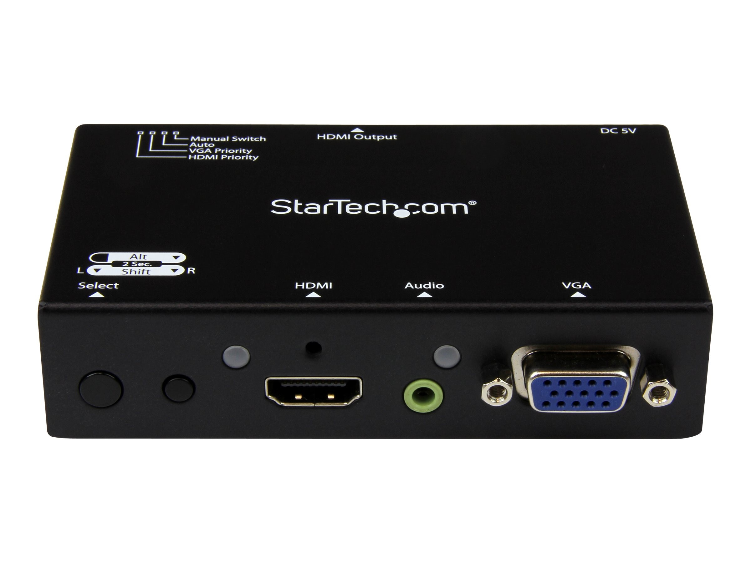 StarTech.com 2x1 HDMI + VGA to HDMI Converter Switch with Automatic and Priority Switching, 1080p, VS221VGA2HD