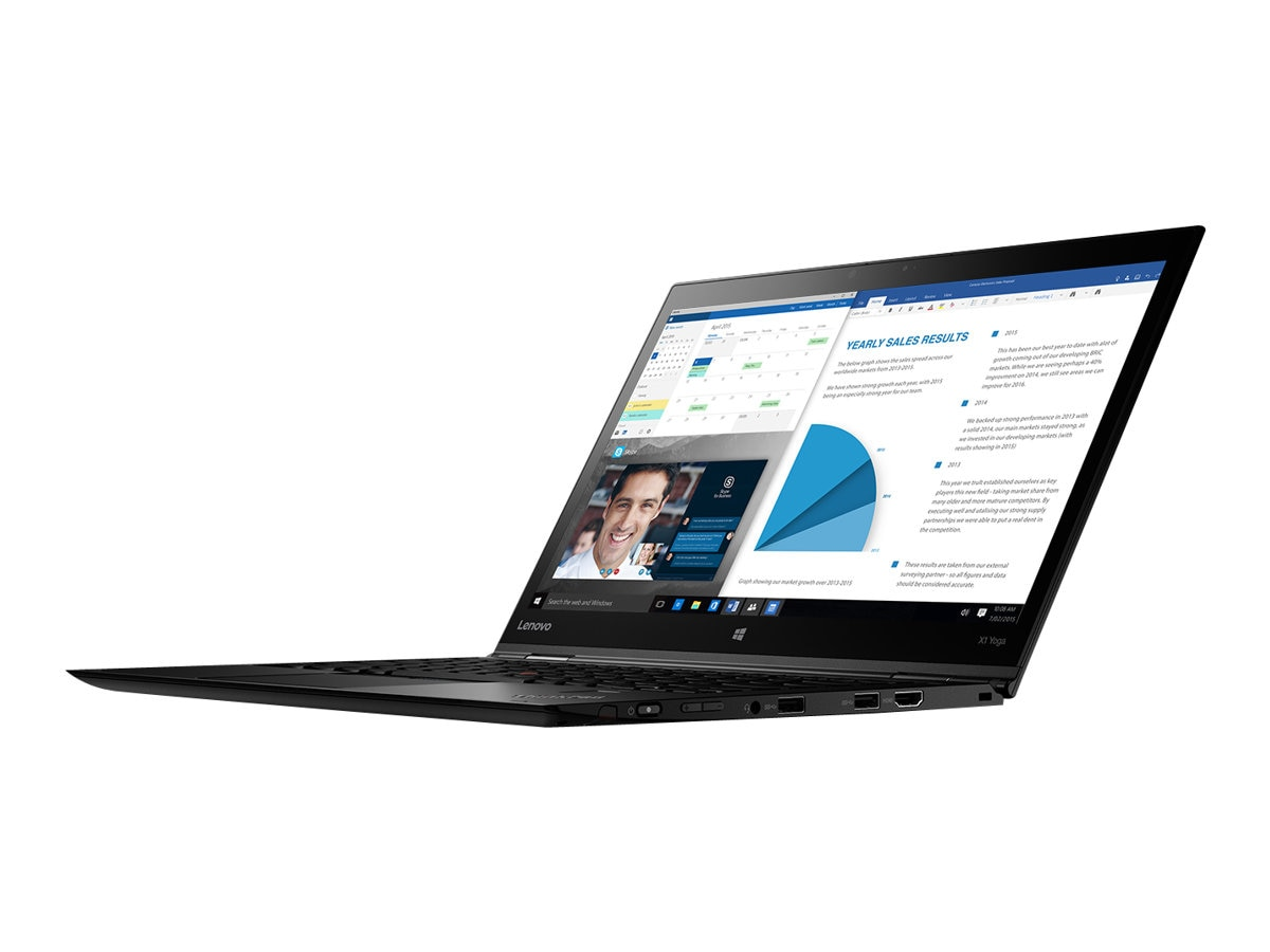 Lenovo TopSeller ThinkPad X1 Yoga G1 Core i7-6600U 2.6GHz 8GB 512GB SSD ac BT FR WC WiG 14 WQHD MT W10P64