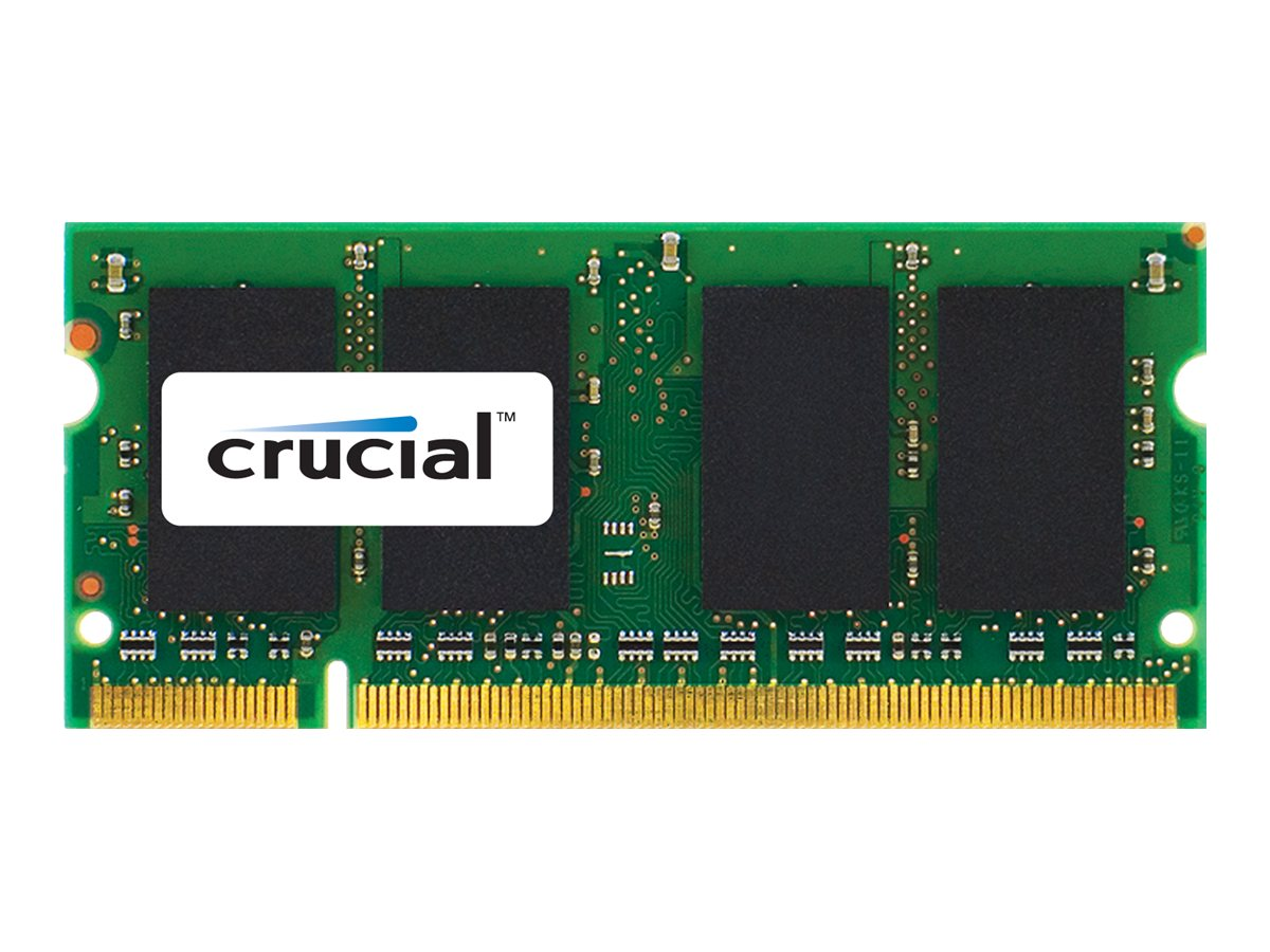 Crucial 2GB PC2-6400 200-pin DDR3 SDRAM SODIMM for iMac, MacBook, CT2G2S800M, 14580325, Memory
