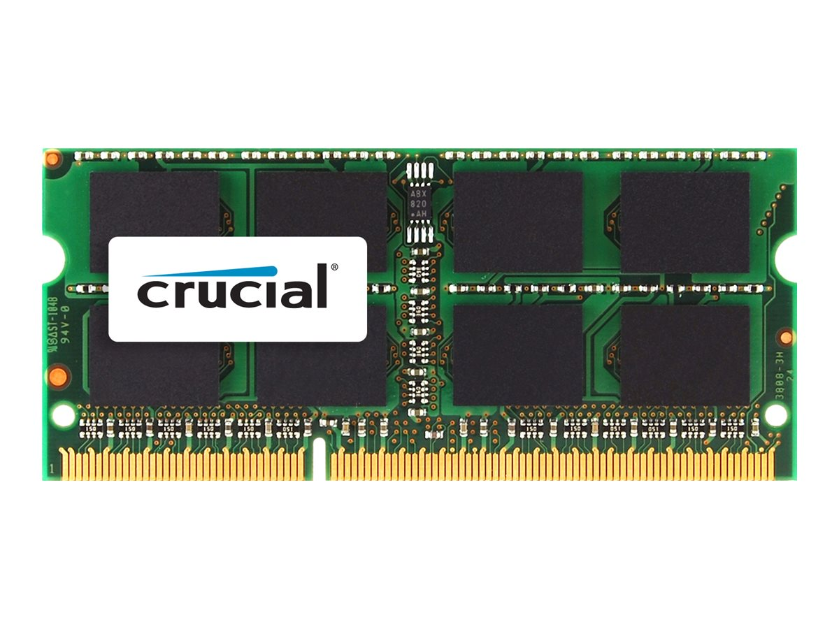 Crucial 8GB PC3-12800 204-pin DDR3 SDRAM SODIMM for MacBookPro, CT8G3S160BM, 14581707, Memory