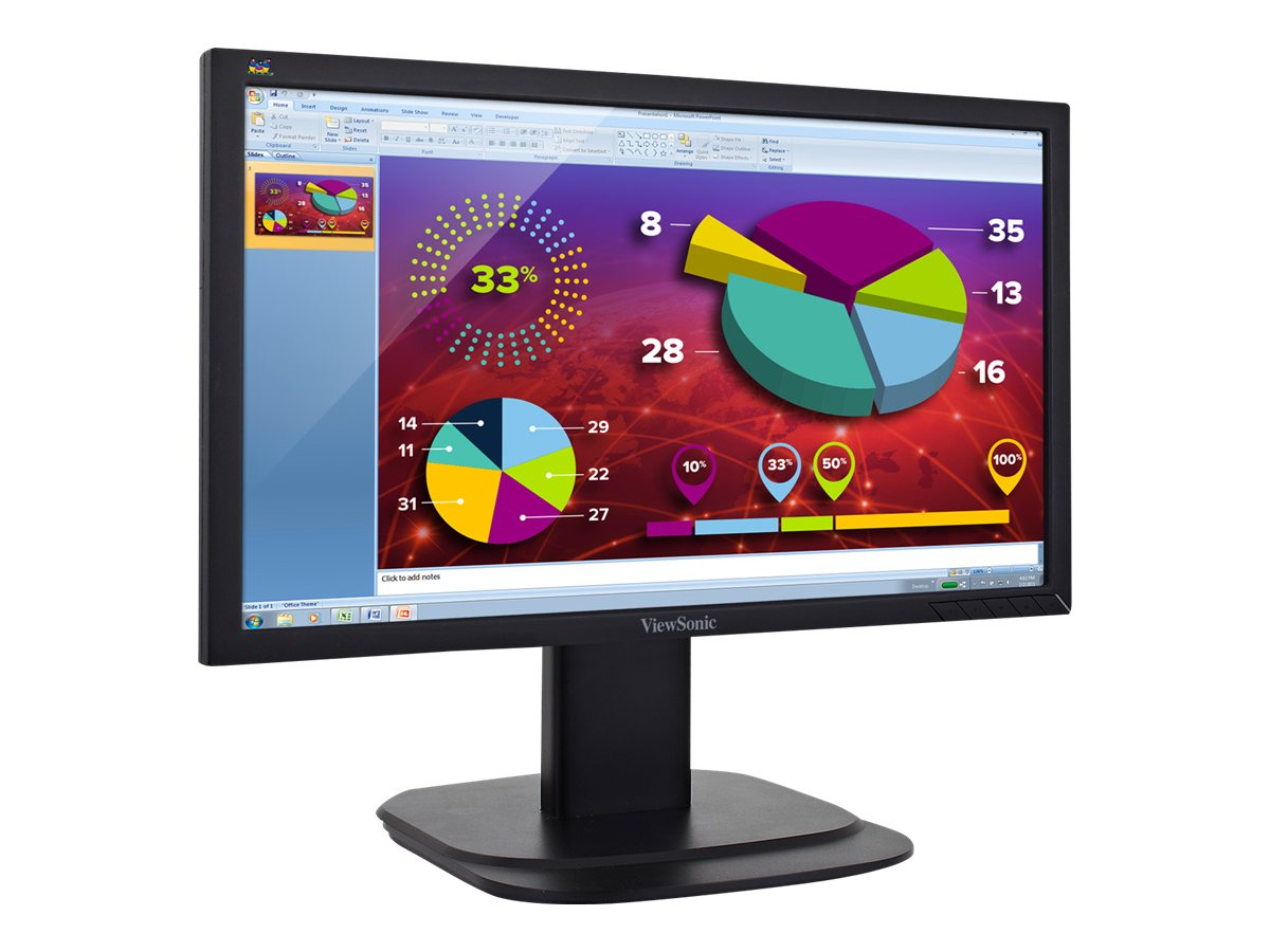 ViewSonic 20 VG2039M-LED LED-LCD Monitor, Black