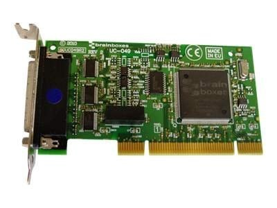 Brainboxes 4-Port Low Profile RS232 PCI Serial Card Opto Isolated TX RX GND, UC-049