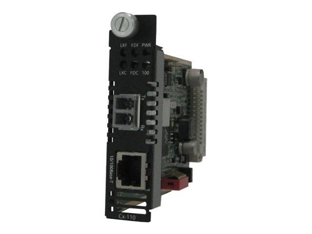 Perle C-110-S2LC20 Media Converter 10 100B-TX-100B-FX 20KM 1310NM 2LC, 05051440, 13327352, Network Transceivers