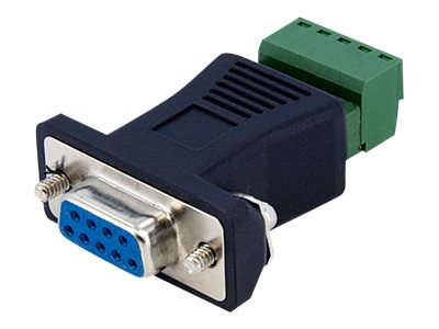 StarTech.com RS422 RS485 Serial DB9 to Terminal Block Adapter, DB92422
