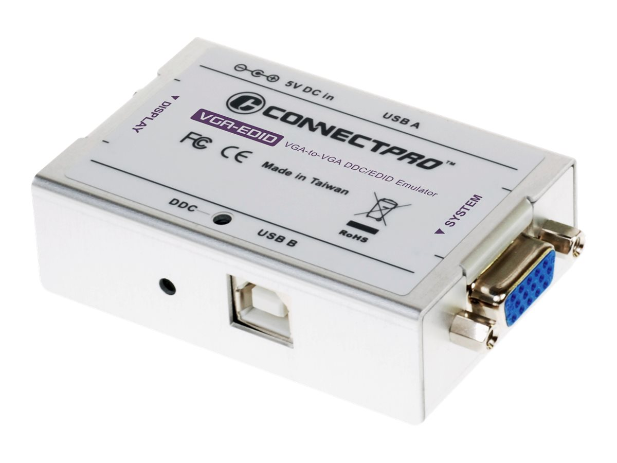 Connectpro VGA-EDID DDC Emulator, VGA-EDID-KITU1, 12610789, Monitor & Display Accessories