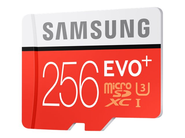 Samsung 256GB Micro SD EVO+ Memory Card with SD Adapter, MB-MC256DA/AM
