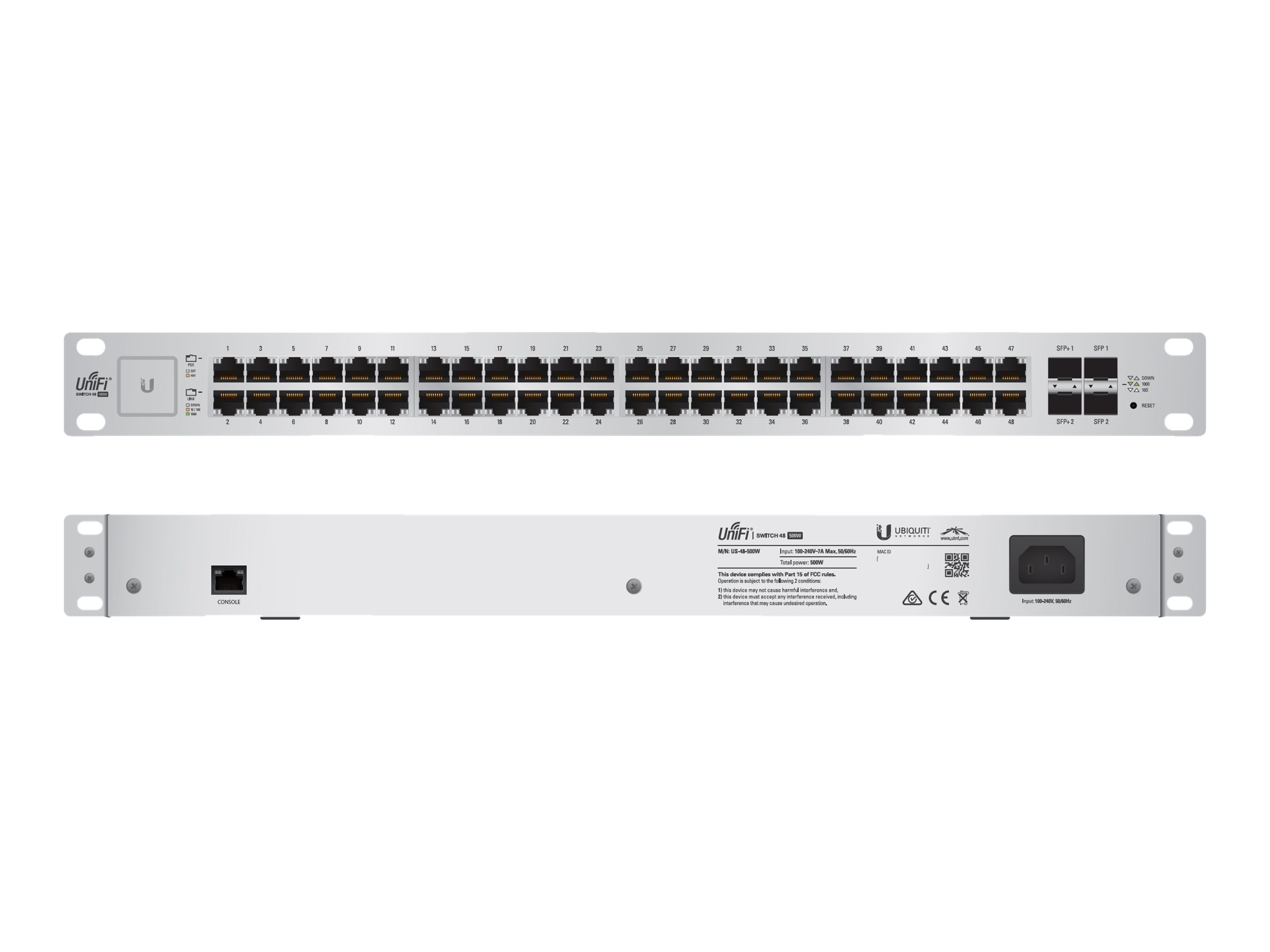 Ubiquiti UnifiSwitch 48-Port 500W, US-48-500W