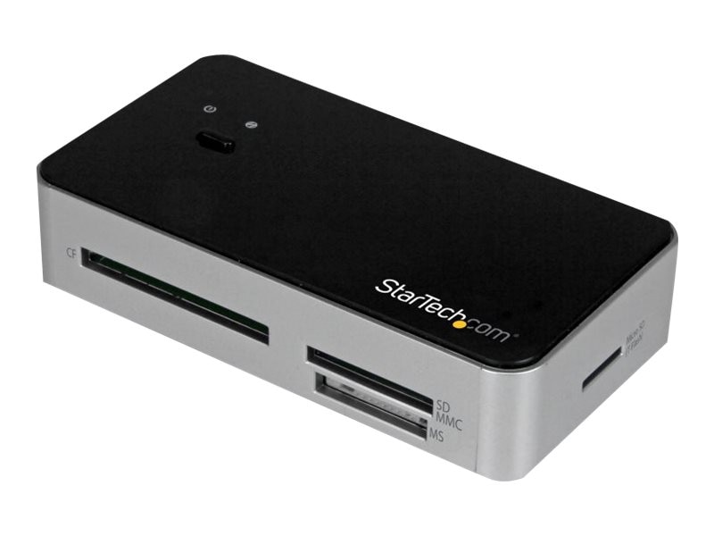 StarTech.com USB 3.0 Multi Media Flash Memory Card Reader with 2-Port USB 3.0 Hub & USB Fast Charge Port