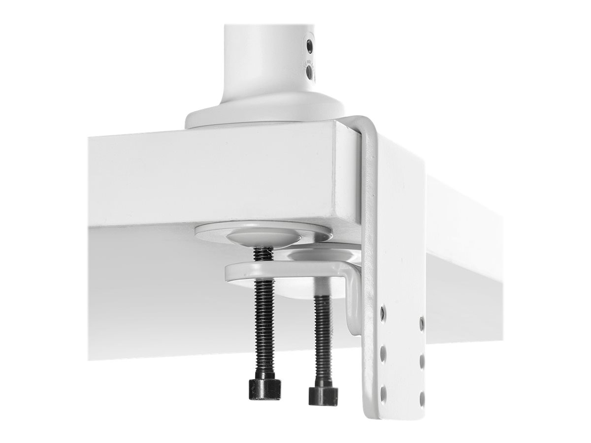 Atdec Single Monitor Spring Arm Desk Mount, White, SSKW