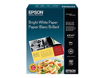 Epson 8.5 x 11 Premium Bright White Paper (500-sheets), S041586