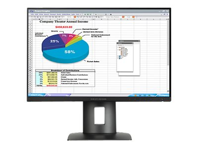 HP 24 Z24n LED-LCD Display, Black, K7B99A8#ABA, 22805205, Monitors - LED-LCD