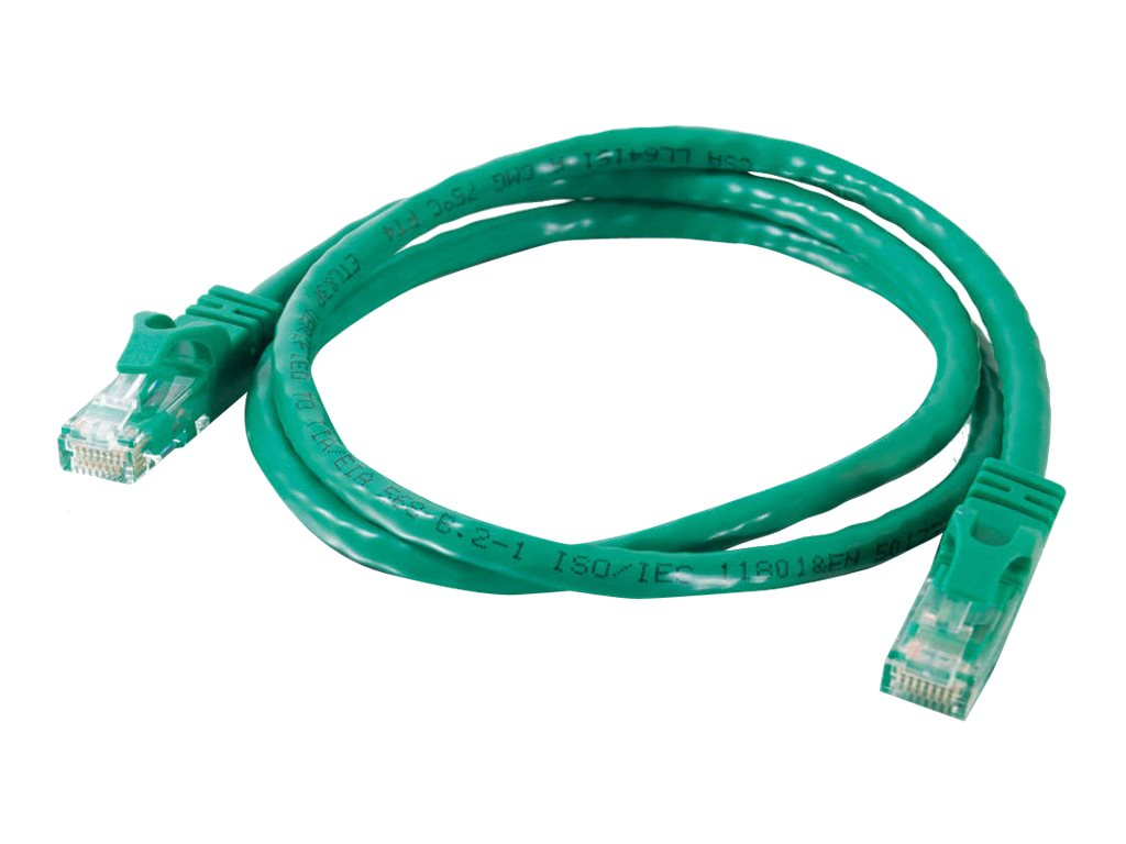 C2G Cat6 Snagless Unshielded (UTP) Network Patch Cable - Green, 1ft, 27170, 5852536, Cables