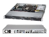 Supermicro SuperServer Barebones 1U RM Xeon E5-2400 Family(x2) Max.192GB DDR3 4x3.5 HS Bays PCIe GNIC 440W