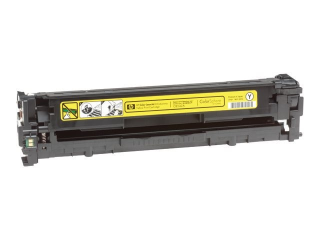 HP 125A (CB542A) Yellow Original LaserJet Toner Cartridge for HP Color LaserJet CP1215 & CP1515, CB542A