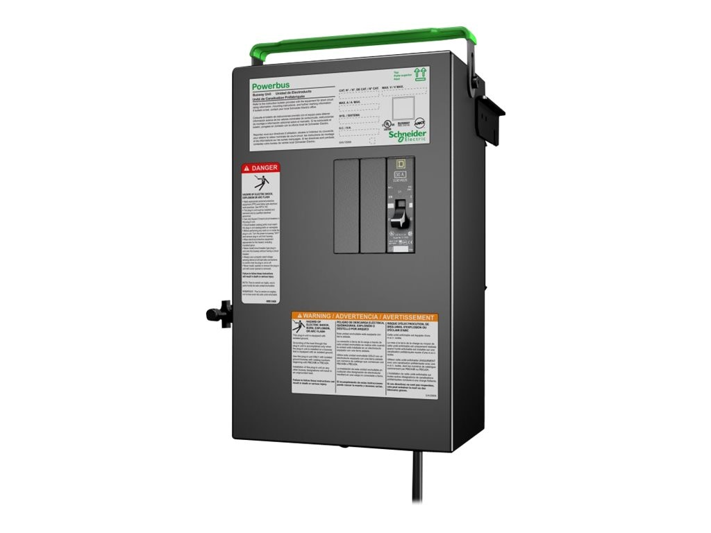 APC PB Busway Tap Off Unit, 1x1 pole 3 Wire, Phase C, 1 Drop cord, IEC 309 30A, 240V, PBP4A11IEC30C, 17672663, Premise Wiring Equipment