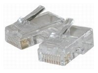 C2G RJ45 Cat5 8x8 Modular Plug For Flat Stranded Cable (100-Pack)