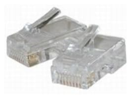 C2G RJ45 Cat5 8x8 Modular Plug For Flat Stranded Cable (100-Pack), 01949, 6742321, Cable Accessories