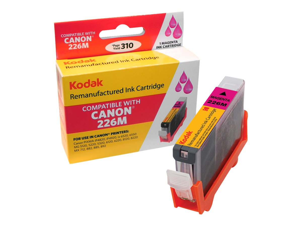 Kodak 4548B001 Magenta Ink Cartridge for Canon, CLI-226M-KD