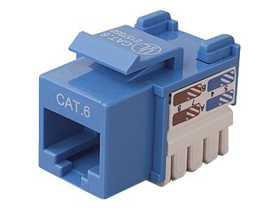 Belkin Cat6 Keystone Jack, 568A 568B, Blue, 25-Pack, R6D026-AB6BLU25, 7630427, Premise Wiring Equipment