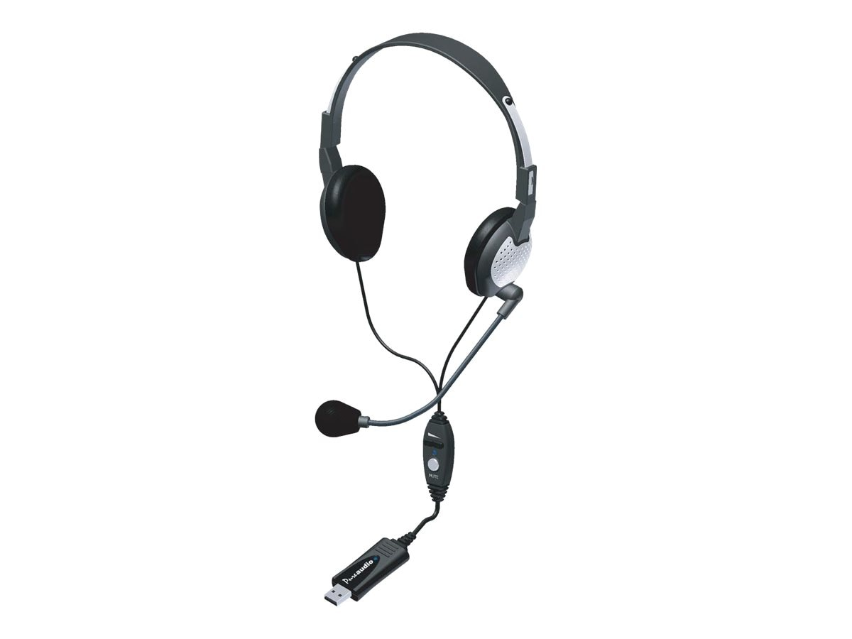 Andrea Electronics NC-185VM USB Stereo PC Headset with Noise Canceling Microphone, NC-185VM-USB, 11255076, Headsets (w/ microphone)