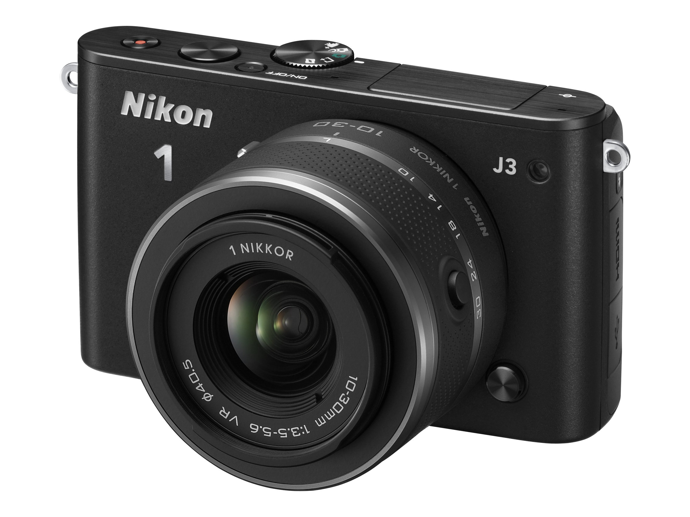 Nikon J3 Interchangable Lens Digital Camera, 14.2MP, Black with 10-100mm Lens, 27657, 15256519, Cameras - Digital - SLR