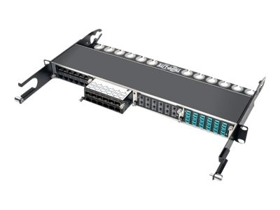 Tripp Lite 12-Port SFP+ 10Gbe Pass Through Cassette w 6xQSFP+ to 4xSFP+Cables, N484-12SFP-K