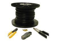 C2G RG6 Dual Shield Coaxial Cable Installation Kit, 500ft, 29833, 9783611, Cables