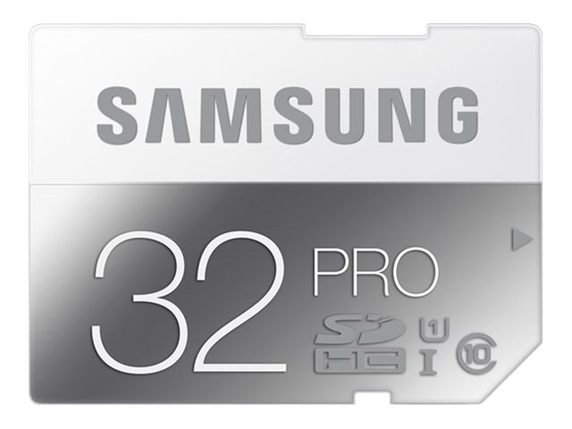 Samsung 32GB Pro SDHC Flash Memory Card, Class 10, MB-SG32D/AM, 18790910, Memory - Flash