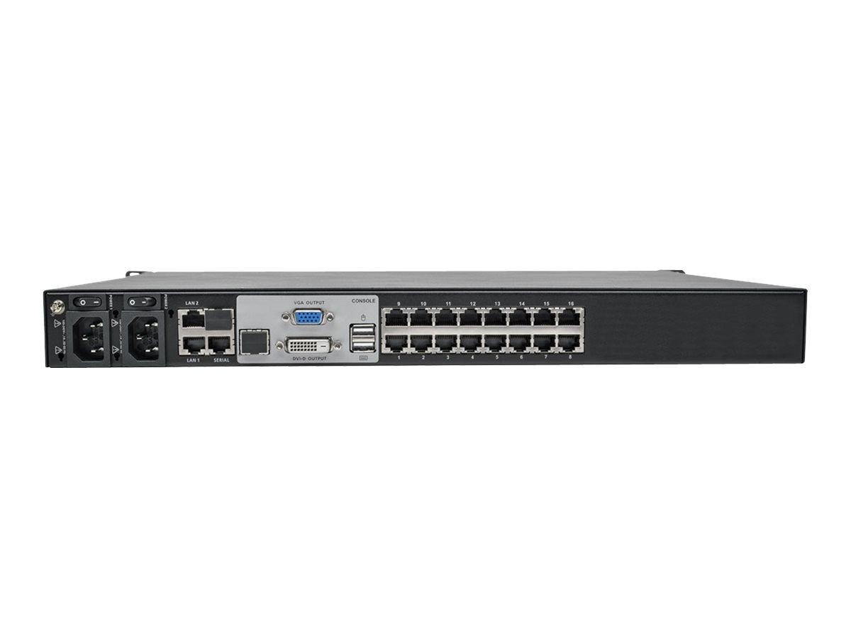 Tripp Lite 16-Port, 2+1 User NetDirector Cat5 IP KVM Switch, TAA Compliant, B064-016-02-IPG