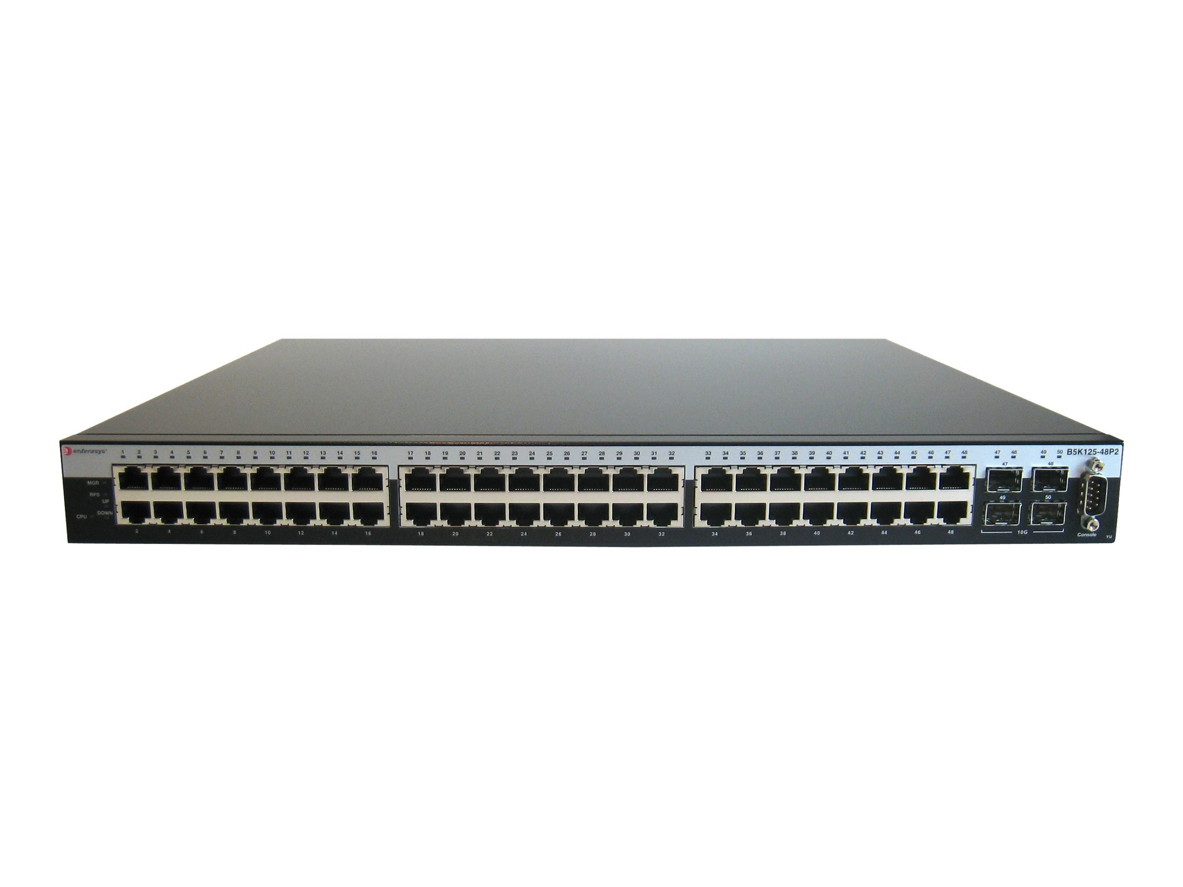 Enterasys B5 Stackable Switch 48-port 2 SFP Plus, B5K125-48P2, 11142004, Network Switches
