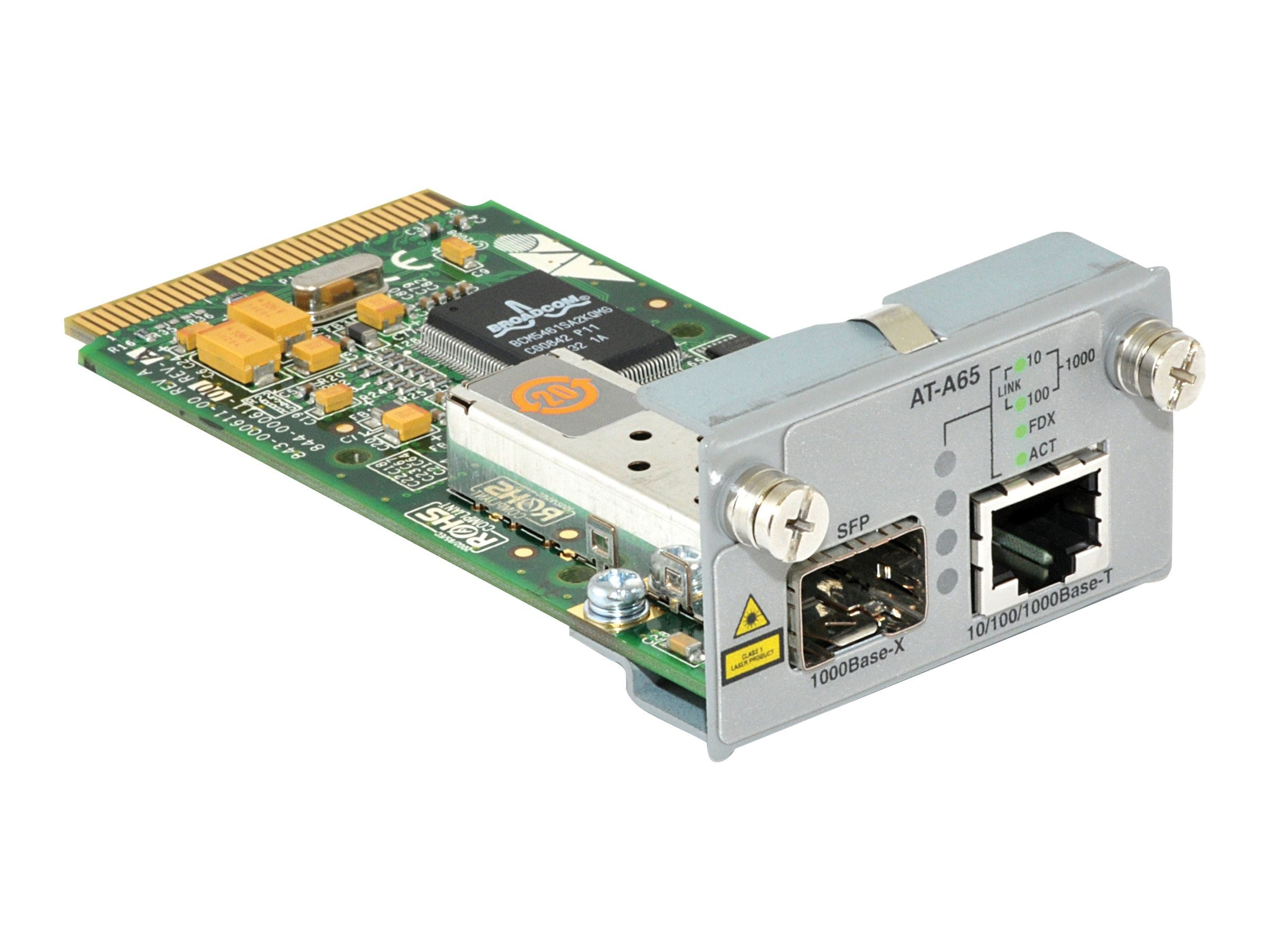 Allied Telesis 10 100 1000T SFP Combo-Uplink Module 8600 Series, AT-A65, 11238268, Network Device Modules & Accessories