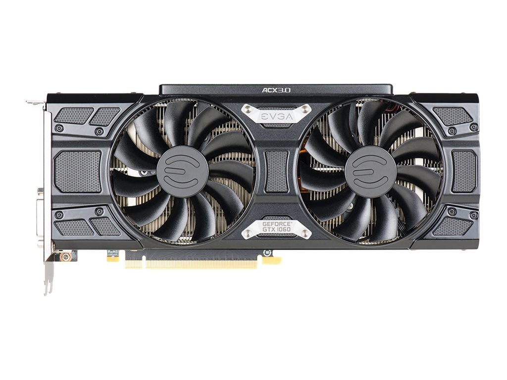 eVGA GeForce GTX 1060 Graphics Card, 3GB, 06G-P4-6366-KR