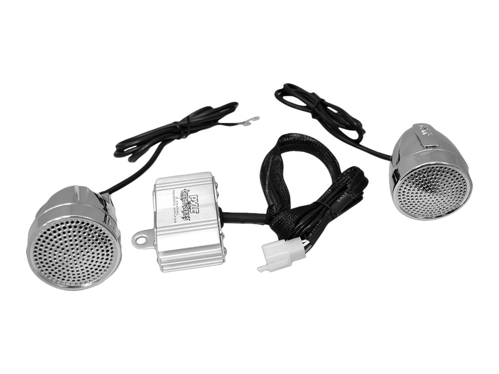 Pyle 600W BT Motorcycle ATV Snowmobile Sound System w  Speaker, PLMCA62BT
