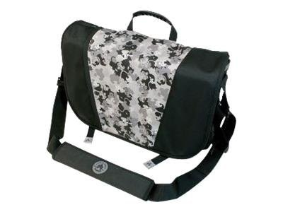 Mobile Edge Sumo Messenger Bag, Black Silver, ME-SUMO33MB1, 10097715, Carrying Cases - Notebook